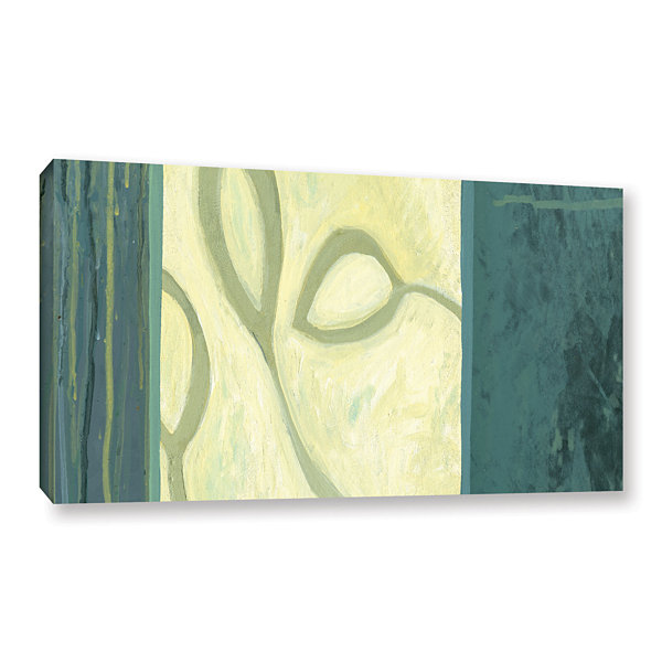 Brushstone Three Leaves I Gallery Wrapped Canvas Wall Art