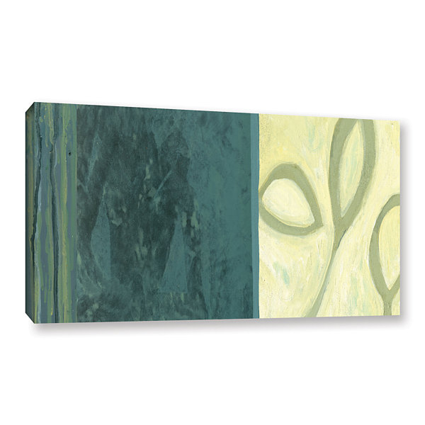 Brushstone Three Leaves II Gallery Wrapped CanvasWall Art