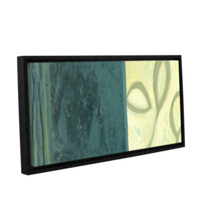 Brushstone Three Leaves II Gallery Wrapped Floater-Framed Canvas Wall Art