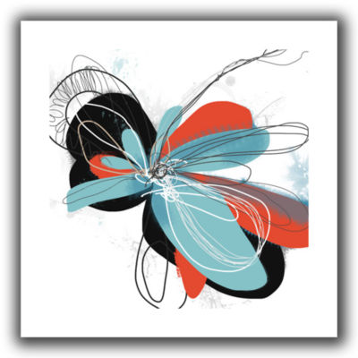 Brushstone Tiffany Blue Pop Petals Canvas Wall Art