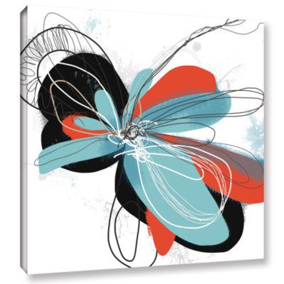 Brushstone Tiffany Blue Pop Petals Gallery WrappedCanvas Wall Art