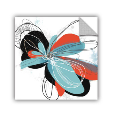 Brushstone Tiffany Blue Pop Petals Removable WallDecal