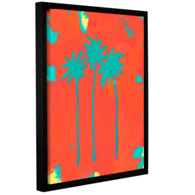 Brushstone Three Palms Gallery Wrapped Floater-Framed Canvas Wall Art