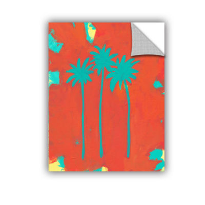 Brushstone Three Palms Removable Wall Decal