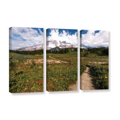 Brushstone The Path To Mt Rainier 3-pc. Gallery Wrapped Canvas Wall Art