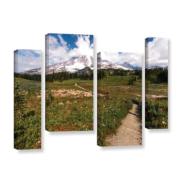 Brushstone The Path To Mt Rainier 4-pc. Gallery Wrapped Staggered Canvas Wall Art