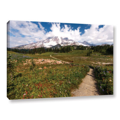Brushstone The Path To Mt Rainier Gallery WrappedCanvas Wall Art