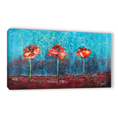 Brushstone Three Poppies Gallery Wrapped Canvas Wall Art