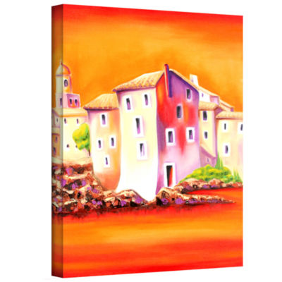 Brushstone Sunset Gallery Wrapped Canvas Wall Art