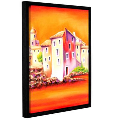 Brushstone Sunset Gallery Wrapped Floater-Framed Canvas Wall Art