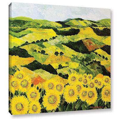 Brushstone Sunflowers And Sunshine Gallery WrappedCanvas Wall Art