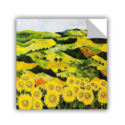 Brushstone Sunflowers And Sunshine Removable WallDecal