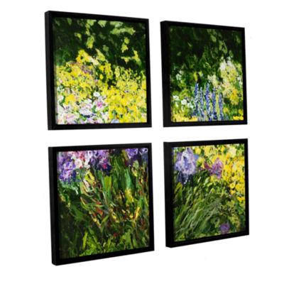 Brushstone Sunshine Blossoms 4-pc. Square FloaterFramed Canvas Wall Art