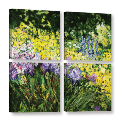 Brushstone Sunshine Blossoms 4-pc. Square GalleryWrapped Canvas Wall Art