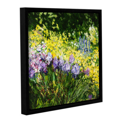 Brushstone Sunshine Blossoms Gallery Wrapped Floater-Framed Canvas Wall Art