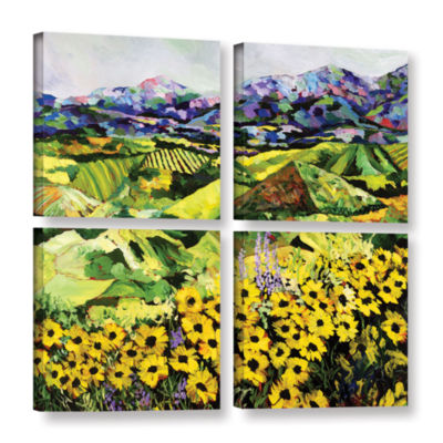 Brushstone Sweet Bluff 4-pc. Square Gallery Wrapped Canvas Wall Art