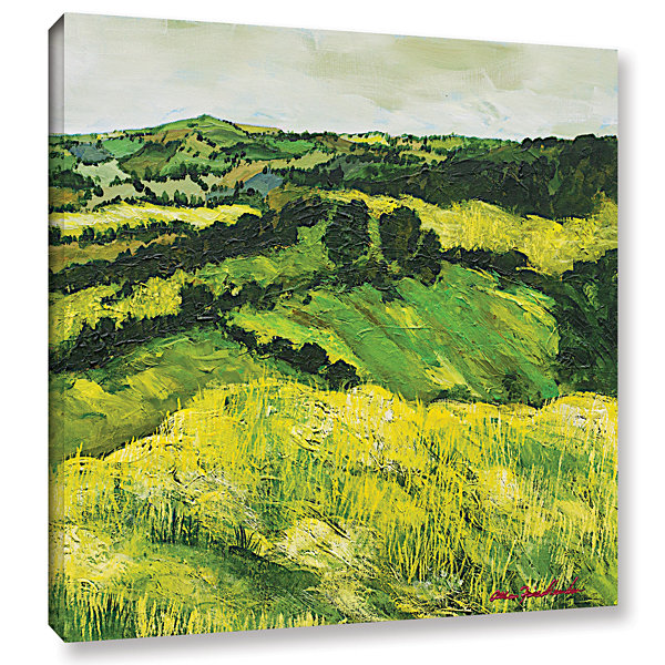 Brushstone Tall Grass Path Gallery Wrapped CanvasWall Art