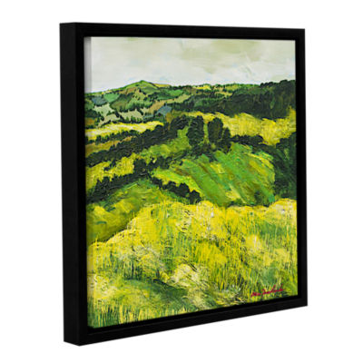 Brushstone Tall Grass Path Gallery Wrapped Floater-Framed Canvas Wall Art