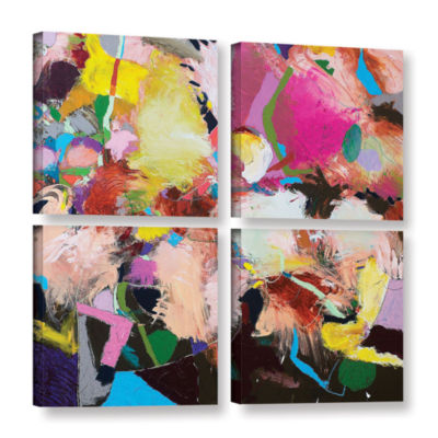Brushstone The Can Can 4-pc. Square Gallery Wrapped Canvas Wall Art