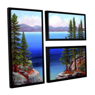 Brushstone Tahoe Dreams 3-pc. Flag Floater Framed Canvas Wall Art