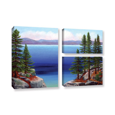Brushstone Tahoe Dreams 3-pc. Flag Gallery Wrapped Canvas Wall Art