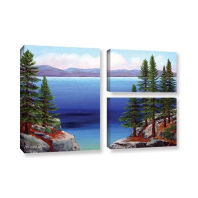 Brushstone Tahoe Dreams 3-pc. Flag Gallery WrappedCanvas Wall Art