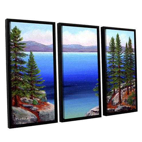 Brushstone Tahoe Dreams 3-pc. Floater Framed Canvas Wall Art