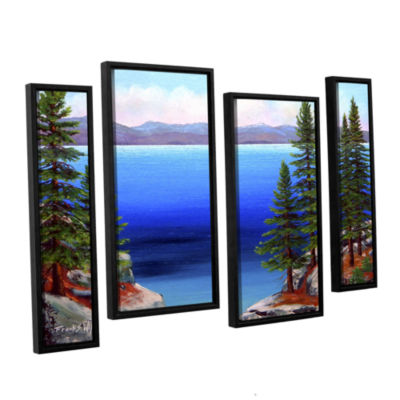 Brushstone Tahoe Dreams 4-pc. Floater Framed Staggered Canvas Wall Art