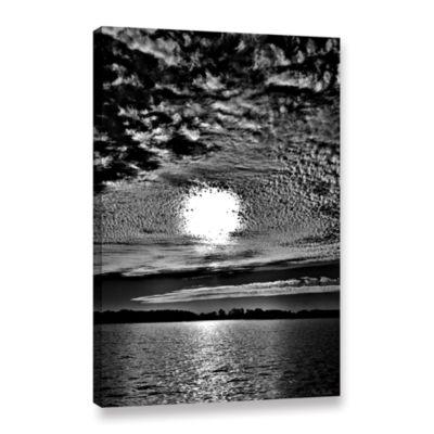 Brushstone Sunset B&W Gallery Wrapped Canvas WallArt