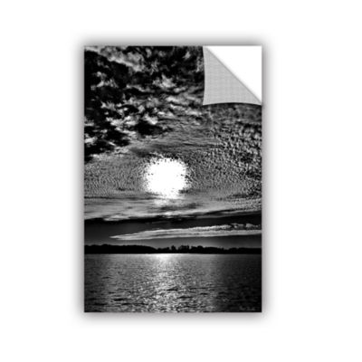 Brushstone Sunset B&W Removable Wall Decal
