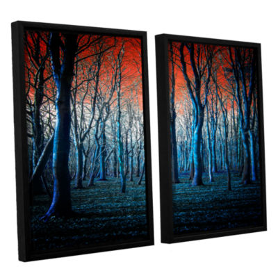 Brushstone The Blue Forest 2-pc. Floater Framed Canvas Wall Art