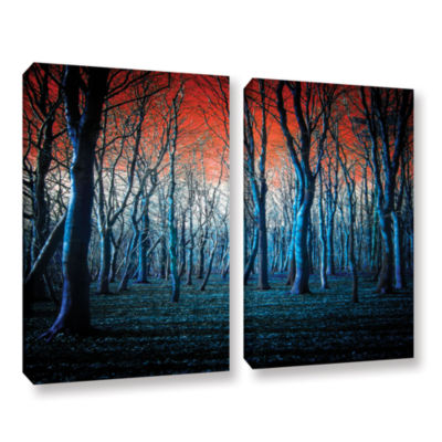 Brushstone The Blue Forest 2-pc. Gallery Wrapped Canvas Wall Art
