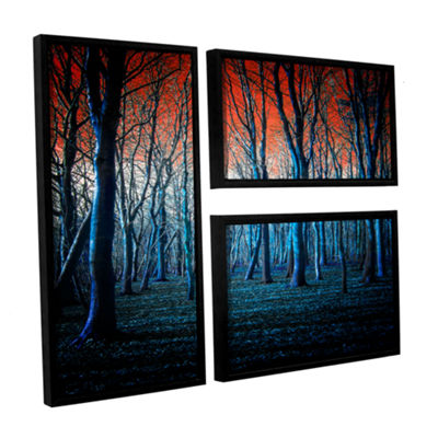 Brushstone The Blue Forest 3-pc. Flag Floater Framed Canvas Wall Art