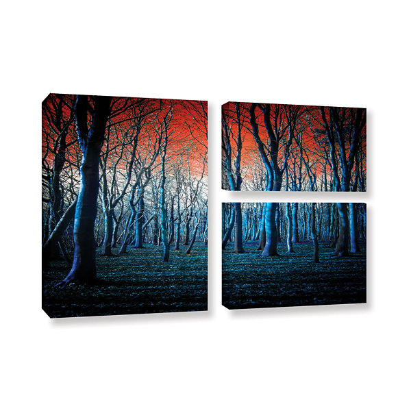 Brushstone The Blue Forest 3-pc. Flag Gallery Wrapped Canvas Wall Art