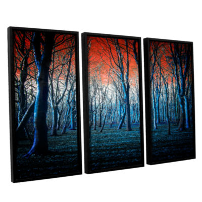 Brushstone The Blue Forest 3-pc. Floater Framed Canvas Wall Art