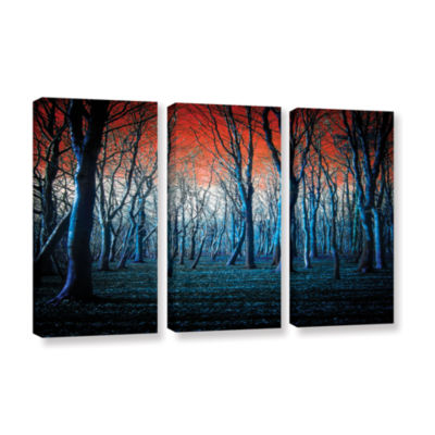 Brushstone The Blue Forest 3-pc. Gallery Wrapped Canvas Wall Art