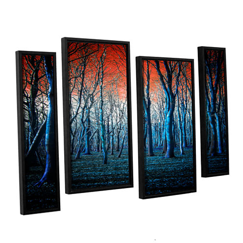 Brushstone The Blue Forest 4-pc. Floater Framed Staggered Canvas Wall Art