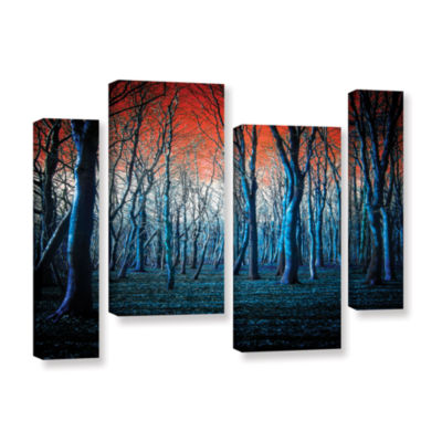 Brushstone The Blue Forest 4-pc. Gallery Wrapped Staggered Canvas Wall Art