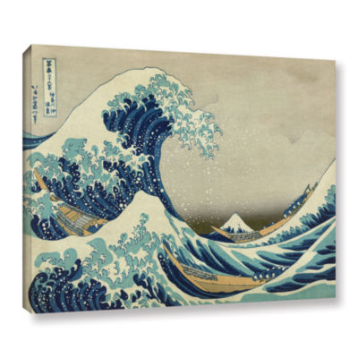 Brushstone The Great Wave Off Kanagawa Gallery Wrapped Canvas Wall Art