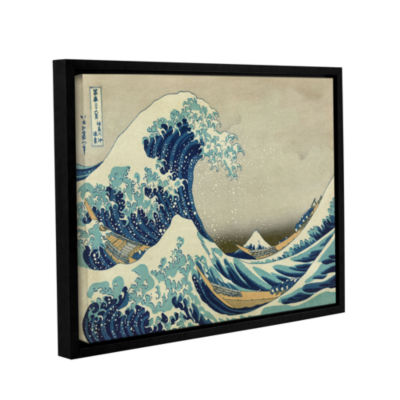 Brushstone The Great Wave Off Kanagawa Gallery Wrapped Floater-Framed Canvas Wall Art
