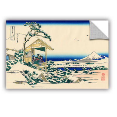 Brushstone Tea House At Koishikawa. The Morning After A Snowfall. Removable Wall Decal
