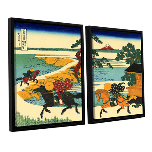 Brushstone The Fields Of Sekiya By The Sumida River 2-pc. Floater Framed Canvas Wall Art