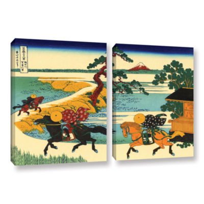 Brushstone The Fields Of Sekiya By The Sumida River 2-pc. Gallery Wrapped Canvas Wall Art