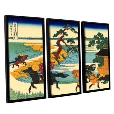 Brushstone The Fields Of Sekiya By The Sumida River 3-pc. Floater Framed Canvas Wall Art