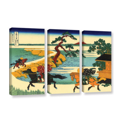 Brushstone The Fields Of Sekiya By The Sumida River 3-pc. Gallery Wrapped Canvas Wall Art