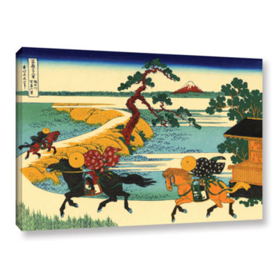 Brushstone The Fields Of Sekiya By The Sumida River Gallery Wrapped Canvas Wall Art