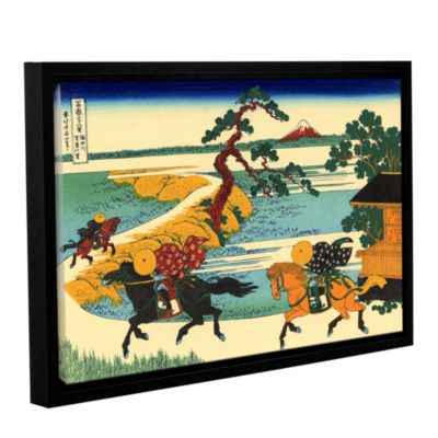 Brushstone The Fields Of Sekiya By The Sumida River Gallery Wrapped Floater-Framed Canvas Wall Art