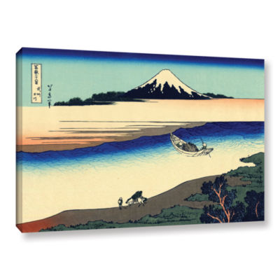 Brushstone Tama River In The Province Of Misushi Gallery Wrapped Canvas Wall Art