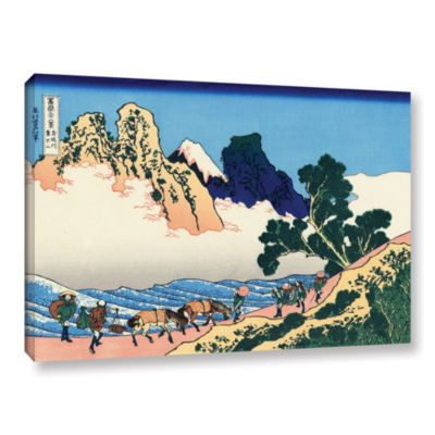 Brushstone The Back Of The Fuji From The Minobu River Gallery Wrapped Canvas Wall Art