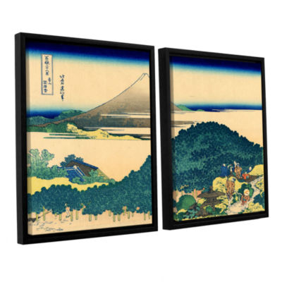 Brushstone The Coast Of Seven Leagues In Kamajura2-pc. Floater Framed Canvas Wall Art